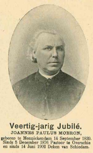 Johannes Paulus Mobron, Deken van Schiedam